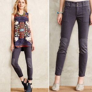 Anthropologie Pilcro Moto Patch Skinny Pants